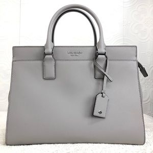 🌸OFFERS?🌸Kate Spade Leather Gray Satchel N…